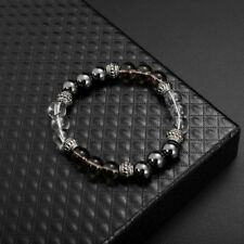 color mixing 8cm excellent jewelry black matte agate energy stone bracelet  O