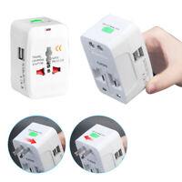 Universal Travel AC Power Charger Adapter Plug Converter USB 2-Port AU UK US EU