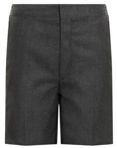 Boys Grey School Shorts Uniform Kids Childrens School Shorts 2 - 12 Years
