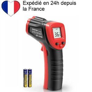 Thermomètre infrarouge Laser industriel sans Contact de -50˚C à 420˚C avec piles