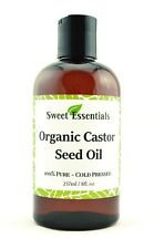 Organic Castor Seed Oil | 8oz | Imported From India | 100% Pure | Cold Pressed