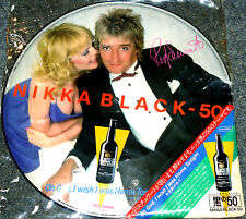 """ROD STEWART """"Nikka Black-50"""" Rare 1983 Japan PROMO ONLY special 12"""" PICTURE DISC"""