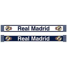 Real Madrid Blanco y Azul Bufanda Con Licencia Oficial
