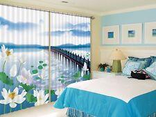 3D Lotus Bud Blockout Photo Curtain Printing Curtains Drapes Fabric Window AU