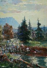 Franz Marx (*1889) Öl-Gemälde alt antik Impressionismus Alpen Landschaft 1900