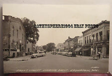 Edgerton Wisconsin Wi Wis Front Street Real Photo Postcard Cars Photograph 1950s