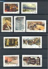 Russia 1967 full set, Paintings in the Tretyakov Gallery, SG 3508-3516