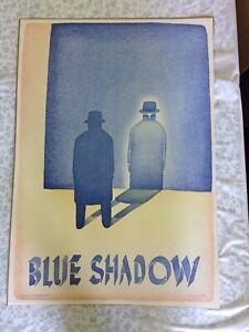 Vintage Blue Shadow By Folon 1980