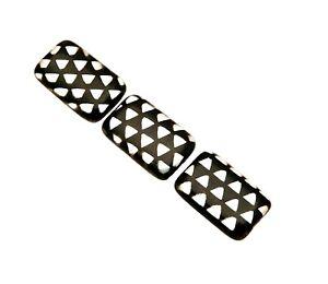 10 Designer Peacock Czech Glass Black Labrador Print 18mm Rectangle Beads