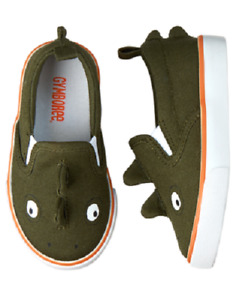 Gymboree Green Iguana Lizard 3-D Sneakers Shoes Toddler Boy Size 6 NEW