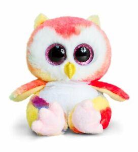 Soft and Cute Multicolor Owl Big Eyes Plush Rainbow Design New