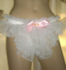 Prissy Sissy Maid Adult Baby CD/TV Sheer Nylon Pouch Thong Panties