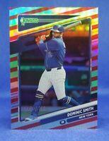 2021 Panini Donruss Baseball #197 Dominic Smith RED Parallel  /2021 NY Mets
