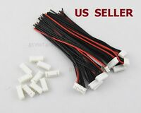 US SHIP 10 PCS 6S1P Balance Charger Cable 22 AWG Silicon Wire JST XH Plug