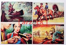 Album LONTANO WEST 1 DARDO 1962 - 4 figurine 7 8 9 10