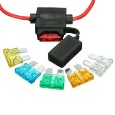12V Car Truck In-line Standard Blade Fuse Holder 5A 10A 15A 20A 25A 30A Fuses US