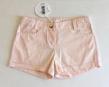 Auth CHLOÉ CHLOE Kids Girls Pale Pink Shorts Scalloped ZigZag Trim Sz 8 NWT $130