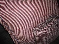 TOMMY HILFIGER MAROON BLUE GRAY STRIPES (2PC) TWIN SHEET SET RED BLUE BOYS