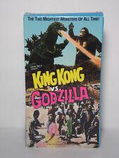 Vintage 1963 John Beck KING KONG VS. GODZILLA Collectible Horror 1987 VHS VIDEO