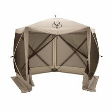 "Gazelle G5 4 Person 5 Sided 115"" x 106"" Portable Canopy Gazebo Screen Tent"