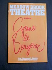 1983-84 - The Meadow Brook Theatre program - Cyrano De Bergerac