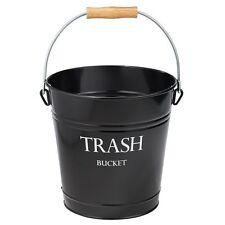 Metal Trash Can Bathroom Office Decor Wastebasket Bucket Garbage Storage Holder