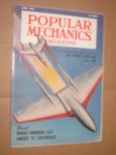 1957 Popular Mechanics Magazine April issue '57 Chevrolet & Atomic Airplane