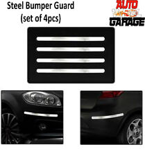 Stainless Steel Chrome Bumper Protection Guard for Hyundai Elite i20- 4pcs