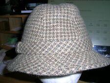 Dorfman Pacific Men's Wool Blend Fedora Hat larg Herringbone Band x cond 8.3/4
