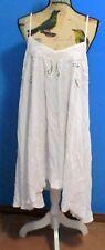 Palma Australia Strappy Dress, Hand Made, Rayon, Beaded Applique Bodice, Size L