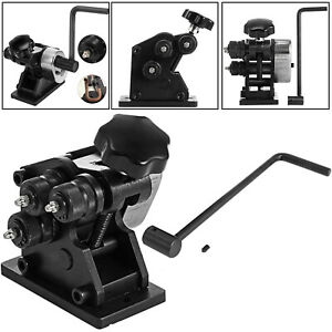 "VEVOR PR-3 Ring Roll Bender 1/4"" Rod 1"" x 3/16"" Flat Steel Roller Gear Driven"