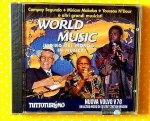 WORLD MUSIC  - IL GIRO DEL MONDO IN MUSICA - CD 2000 EDITORIALE  NUOVO SIGILLATO