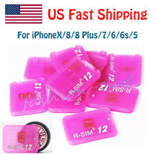 R-SIM 12 fits for iPhoneX/8/8p/7/6/5 SE ios 11.x 10.x Unlocked Nano-SIM Card LTE