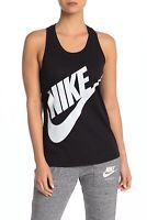 Nike Womens Black Logo Racerback Fitness Tank Top Shirt S BHFO 3604