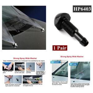 1 PAIR Windshield Wiper Water Spray Jet Washer Nozzle HP6403 Universal