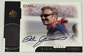 Dale Jarrett HOF UPPER DECK SP AUTHENTIC autographed 1999 SIGN OF THE TIMES card