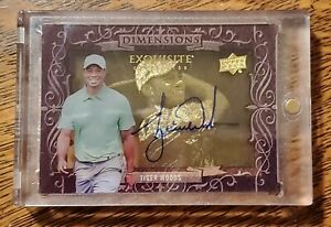 2013 Upper Deck Exquisite Collection Dimensions Tiger Woods Shadowbox Autograph