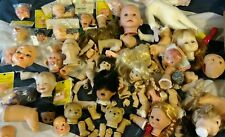 Huge Vintage new and old Lot Of Dolls and Body Parts /Repair /Parts horror doll