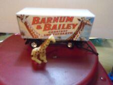 Nice HO Scale Barum and Bailey giraffe Circus Wagon and figure