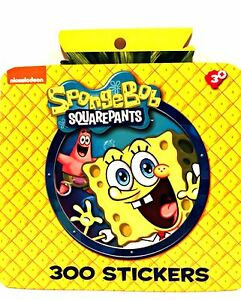 Nickelodeon SpongeBob SquarePants 300 Sticker Book Ages 3+ Fun Stickers 8 Pages