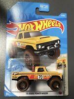 /'70 Dodge Power Wagon #3 2021 Hot Wheels Case B Yellow B41