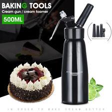 500mL Aluminum Whipped Dessert Cream Butter Dispenser Whipper Foam Maker +Nozzle