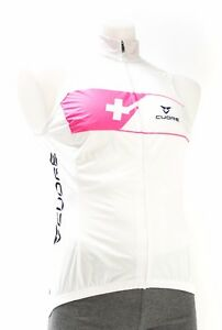Cuore Women Road Bike Wind Vest MED LARGE XL White Pink Packable Triathlon Race