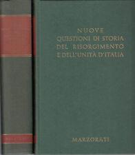 NUOVE QUESTIONI DI STORIA DEL RISORGIMENTO 2 VOLUMI 1969 LIBRO MARZORATI EDITORE