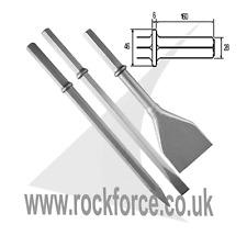 HEX 28 mm Breaker Steel Set of Chisel, Point & Asphalt Cutter! Made UK! Quality!