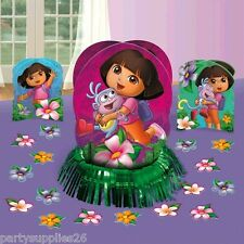DORA THE EXPLORER BIRTHDAY PARTY SUPPLIES TABLE DECORATING KIT WITH CONFETTI