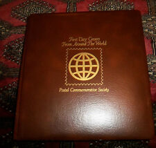 65 WORLDWIDE FIRST DAY COVERS  IN PCS ALBUM  LATE 1970s - 1990 FDC EXC COND