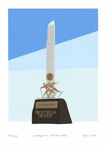 FRANCO COSTA Vasaloppet '88 Procordia Trophy SIGNED 32.75 x 23.75 Serigraph 1988