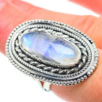 Large Rainbow Moonstone 925 Sterling Silver Ring Size 7.5 Ana Co Jewelry R57798F