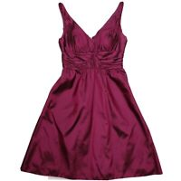 Adrianna Papell 2P Petite Cocktail Dress Sleeveless Dark Fuchsia Pink Burgundy